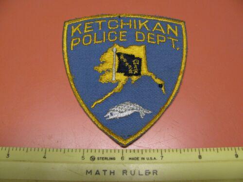 OLDER KETCHIKAN  ALASKA POLICE DEPARTMENT COLORED SHOULDER PATCH ~NICE~