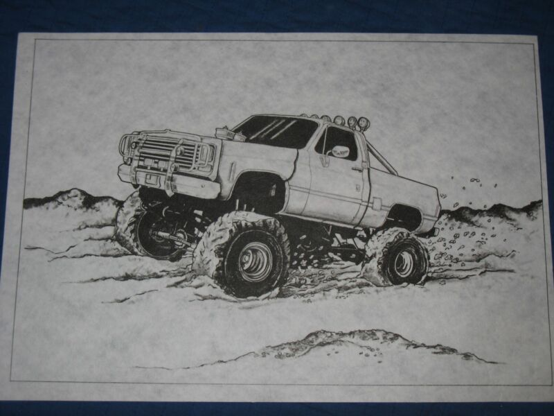 * TRI CHEM 7220 MUD MONSTER Picture to paint TRICHEM