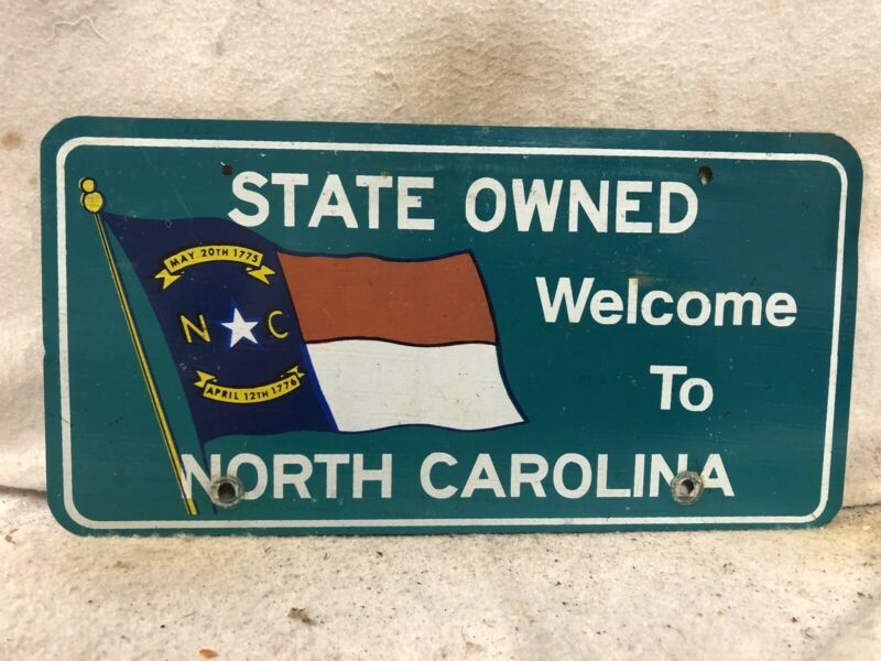Vintage Welcome To North Carolina License Plate