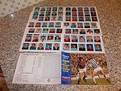 ALBUM CALCIATORI CAMPIONATO 1975 1976 GENTE VUOTO BELLO+SET FOGLI 180 FIG SU 240