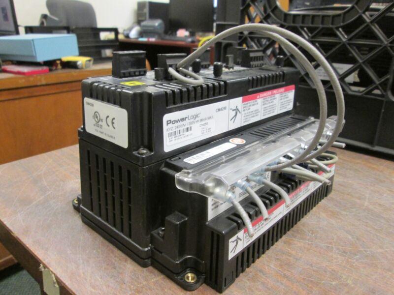 Square D Powerlogic Circuit Monitor Cm4250 240/300v 96ma W/ Cvm42 Used