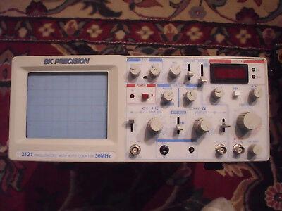 Bk Precision 2121 Oscilloscope With Auto Counter 30mhz