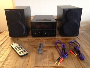 Yamaha CRX-322 CD Receiver with Speakers