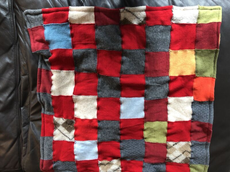Handmade Quilt Wool Cashmere Patchwork Baby Blanket Colorful For Crib Stroller