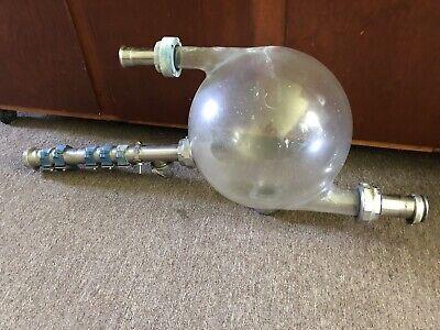 Vintage Pyrex Glass Milk Receiving Jar Milk Parlor Pipeline Unique Dairy Bottle