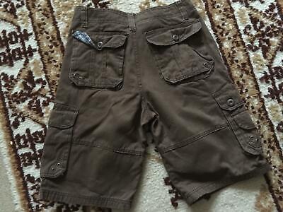 Cargo Slant Pockets Shorts - Men's brown denim Boule Doy size 30 6  2 slant pockets 2 back & 2on leg buttoned