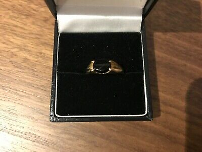 Vintage 9ct Gold Onyx Ring