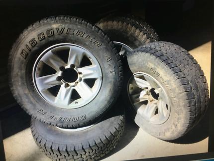 4x rims and tyres suit GU patrol