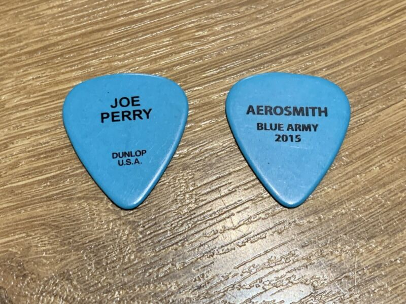 JOE PERRY AEROSMITH GUITAR PICK BLUE ARMY 2015 DUNLOP