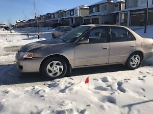 SELLING 2002 Toyota Corolla LE,  NEW SAFETY , LOW KM !!!