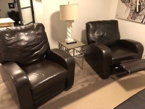 Lazy Boy Brown leather Rocking/Recliner