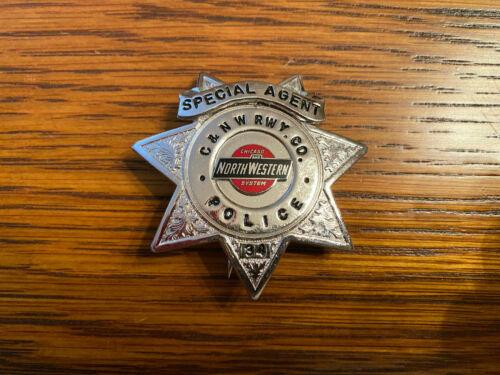 "Chicago & Northwestern Railroad ""Wallet"" Police Badge"