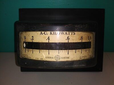 Vintage General Electric Usa A-c Kilowatts Meter