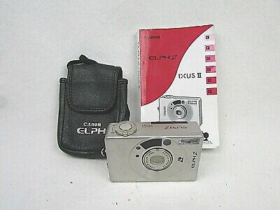 CANON ELPH2 CAMERA w/ IXUS II 35mm CAMERA INSTRUCTION MANUAL  w/case for sale  Shipping to India
