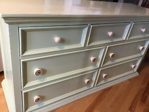 Mint green misfit long dresser- available