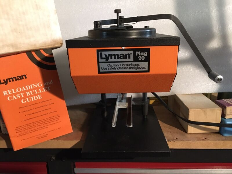 Lyman Mag 20 Lead Casting Furnace~Reloading~ Fishing with box & Insert