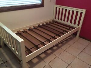 White bed frame Erskine Park Penrith Area Preview
