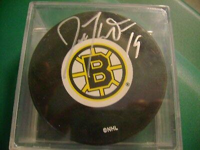 Joe Thornton autographed signed Boston Bruins Hockey Puck Frozen Pond (Frozen Pond Hockey)