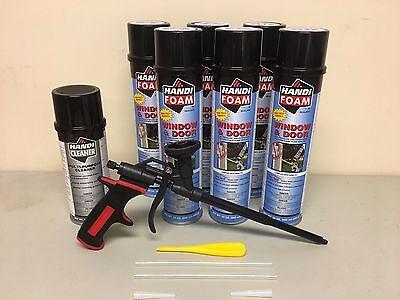 Handi Foam - 6 Window Door 24oz - 1 Gun Cleaner 12oz - Pro Gun - Great Stuff