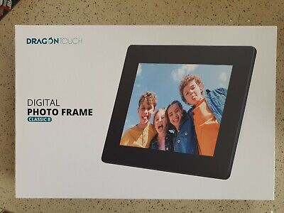 Dragon Touch Digital Photo Frame 8 Inch Touch Screen HD Display 16GB Memory