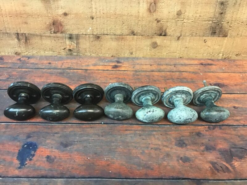 Copper Heavy Pound Each Doorknob Door Knobs Handles Lot Of 7