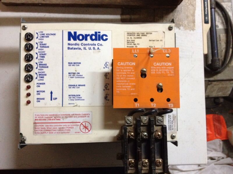 Furnas Siemens Nordic 7634MOO Reduce Voltage Motor Starter and Brake 30 HP