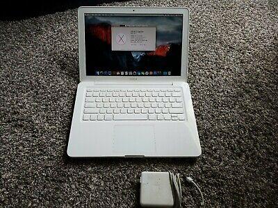 """Apple Macbook 13"""" A1342 Unibody 4GB RAM Mid 2010 2.4GHz 500GB 10.11.3 El Capitan"""