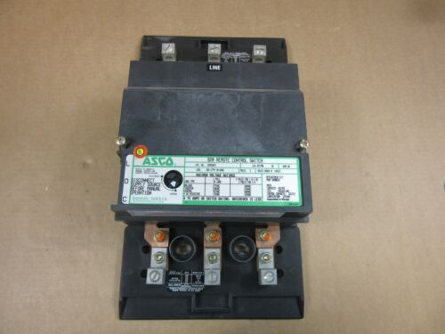1 ASCO 92033071 30A 3 POLE 277V COIL 920 REMOTE CONTROL SWITCH GREAT CONTACTS