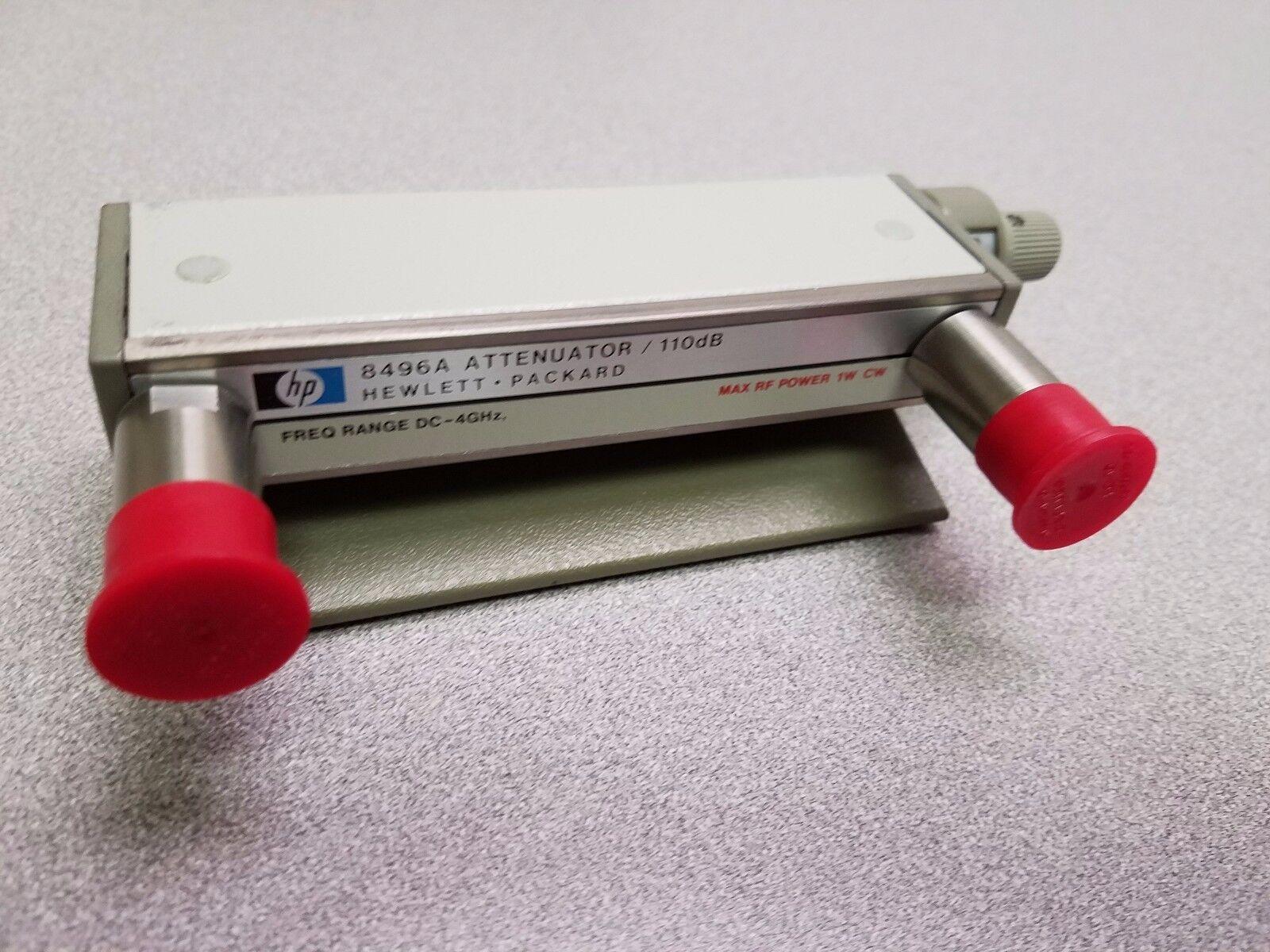HP Agilent 8496A Manual N Step Attenuator, 4 GHz, 110 dB, 10dB steps Opt. 001