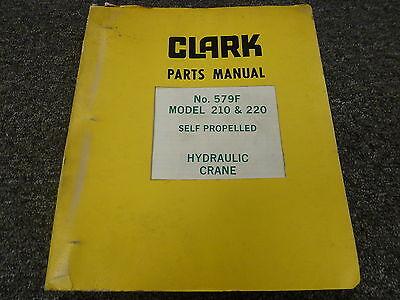 Clark Austin-western 210 220 Self Propelled Hydraulic Crane Part Catalog Manual