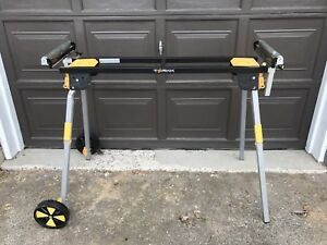 Torkk mitre saw stand with rollers and wheels