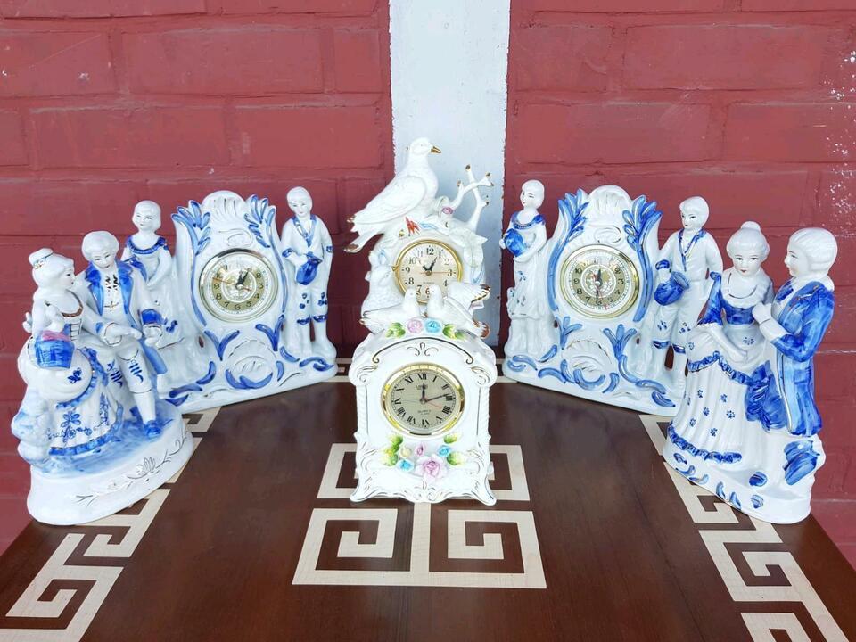 Porzellanfiguren Porzellaauhren Uhren Figuren in Groß-Gerau