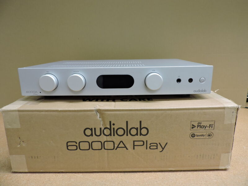 Audiolab 6000A PLAY Integrated Amplifier with Wireless Audio Streaming (Silver)