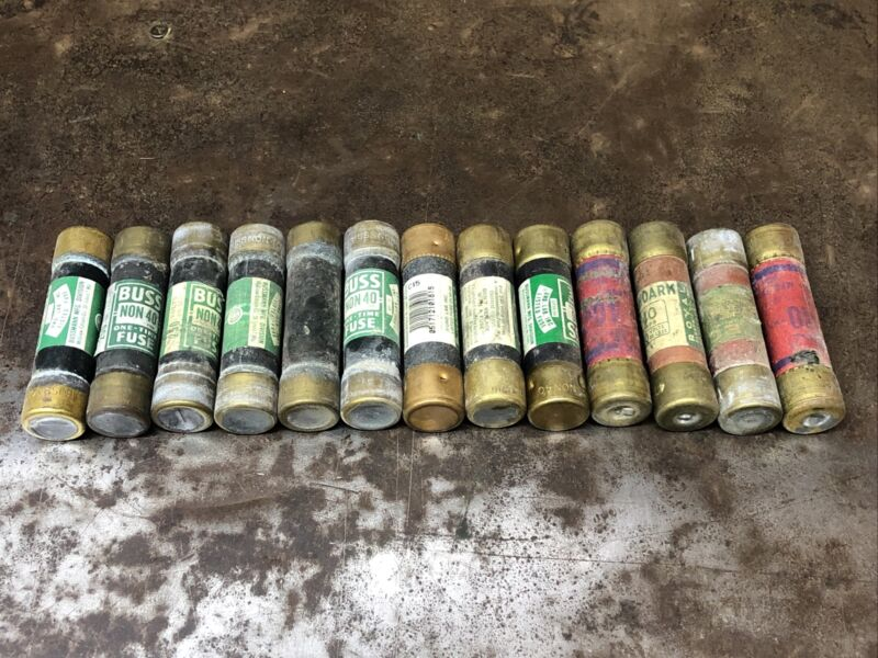 13-PK Used EAGLE Buss 40 Amp Fuses 250 Volt One-Time NON-40 Used
