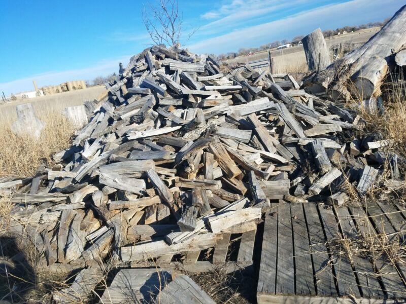 Big Heavy Box, 65+ LBS Better Assorted Hand Split Firewood. Dry. Elm, Poplar, Co