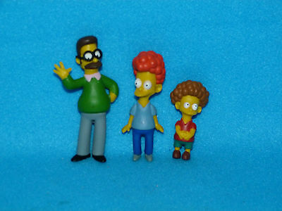 The Simpsons figures ned Flanders rod and Todd