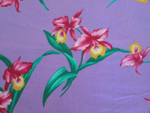 3X MuuMuu Dress Hawaiian Floral Tropical Flowers Red Yellow Green on Purple MuMu