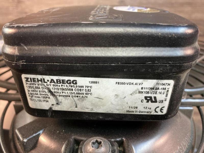 ziehl abegg axial fan motor compressor or AC FE050-VDK.4I.V7 art# 135658