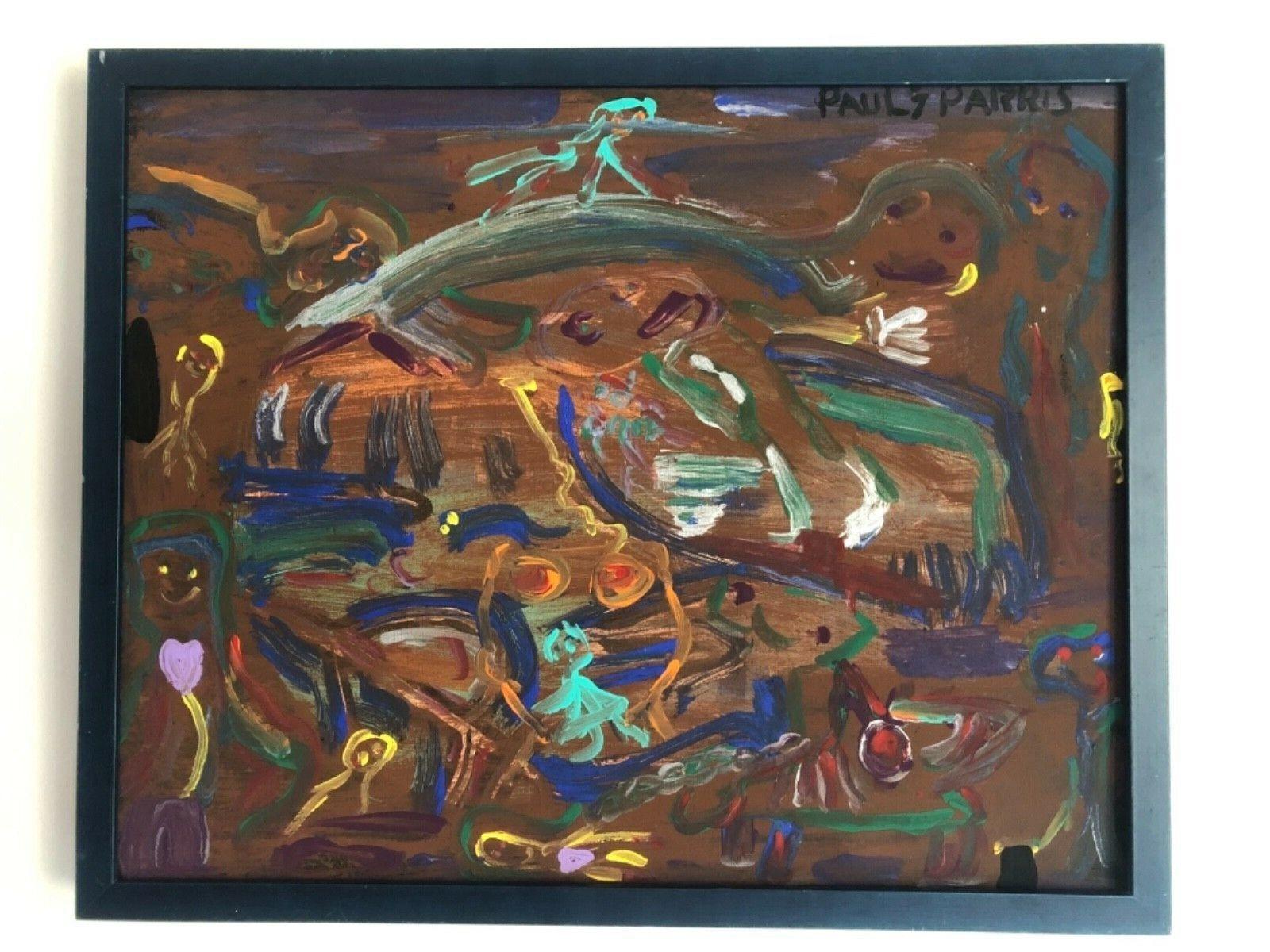 Paul Parris Outsider Art Expressionist Picasso Dali Graffiti Miro Chagall Keil - $49.00