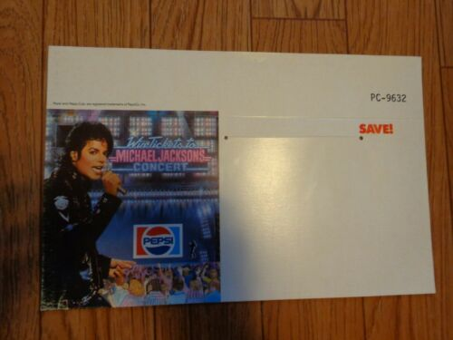 Michael Jackson Pepsi Tour Shelf Talker 1984