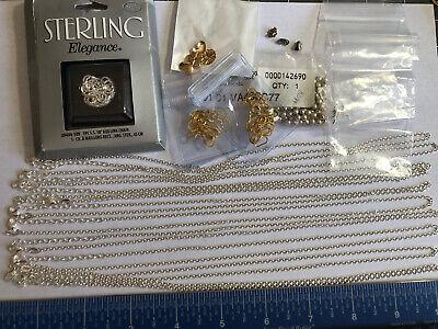Marcasite Sterling Silver 925 Oval Link Choker Necklace Estate Find 16.5