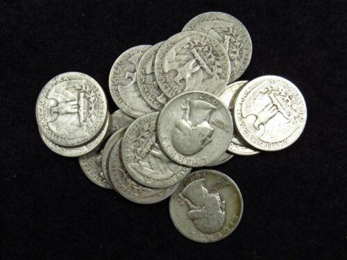 1937-S Washington Quarter ORIGINAL VG/VG+ 90% SILVER (1 COIN)