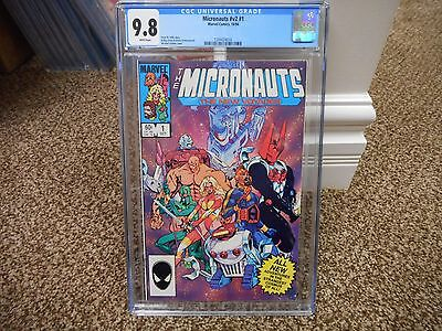 Micronauts #1 cgc 9.8 Marvel 1984 WHITE pages movie TV mego v2 new voyages 1st p