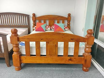 DELIVERY TODAY EXTREMELY STRONG SOLID WOODEN Queen bed frame