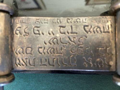 Judaica Hebrew Silver Scroll Paperweight Simon Benyamin Bible Jewish Artifact