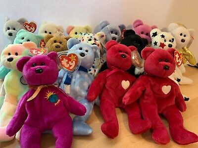 Lot of 16 Ty Beanie Babies Bears Valentino, Valentina, The End, Millennium, TY2k for sale  Tempe