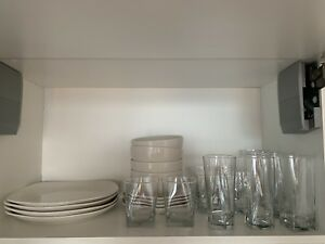 Glassware and dinnerware for sale.