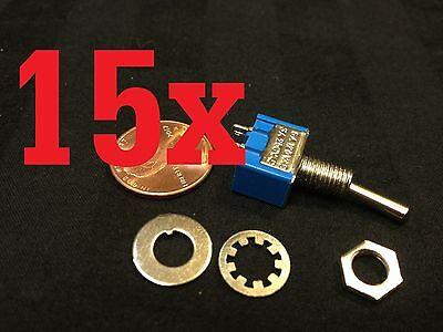 15x ON-OFF Toggle Switch SPST MTS-101 6mm 1/4 sub miniature on off 15pcs  b12