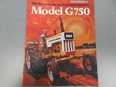 Rare Minneapolis Moline G750 Tractor Sales Brochure 4 Pages 1971