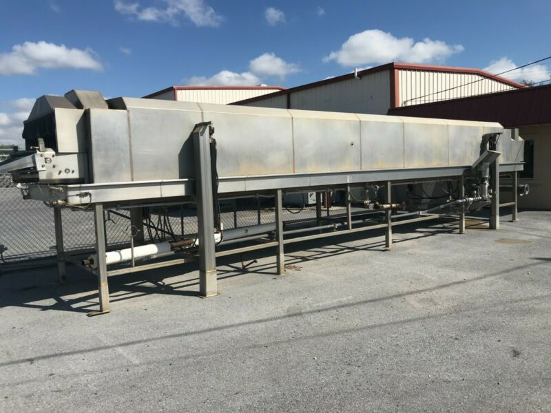 """Used Steam Pasteurizer/ Blancher, Highside Mfg, 48"""" wide x 36 ft long"""